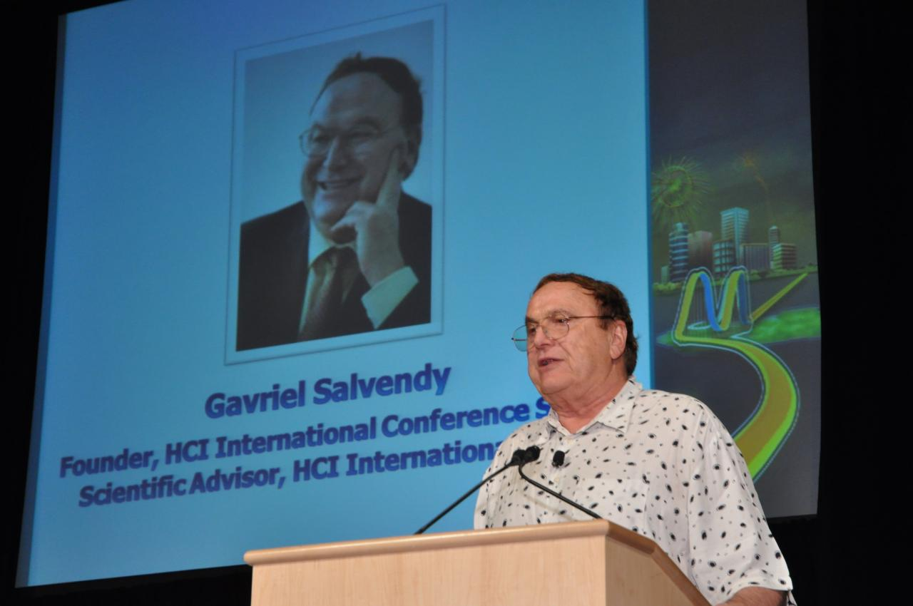 Prof. Gavriel Salvendy, Founder of the HCII Conference series and Scientific Advisor of HCII 2011