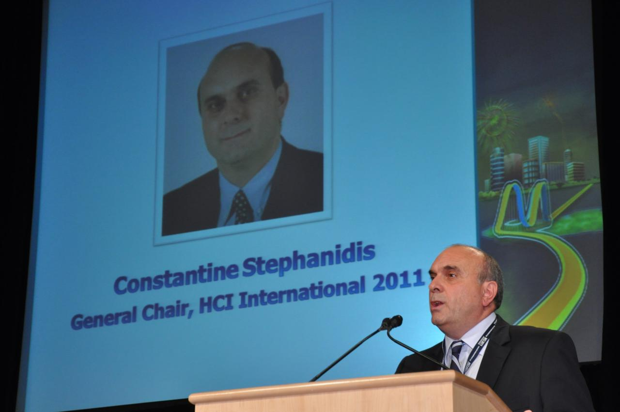 Prof. Constantine Stephanidis, General Chair of HCII 2011